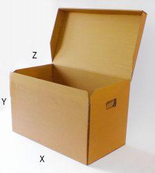 Archiváló karton doboz (6db gyűrűs dossziéhoz)