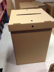 Archiváló karton doboz (plombával zárható, bizalmas iratok tárolására)