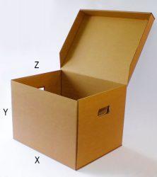 Archiváló karton doboz (5db gyűrűs dossziéhoz)
