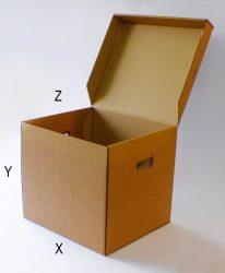 Archiváló karton doboz (4db gyűrűs dossziéhoz)