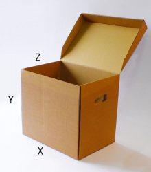 Archiváló karton doboz (3db gyűrűs dossziéhoz)